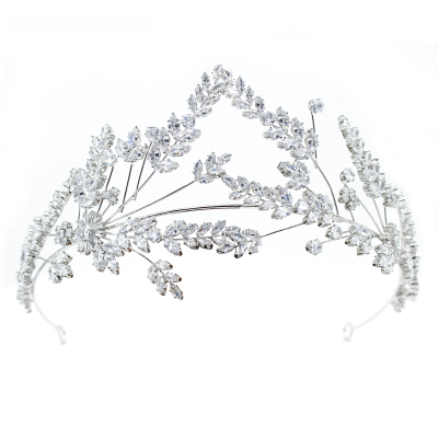 CUBIC ZIRCONIA COLLECTION - STATEMENT COUTURE HEADPIECE - AHB65