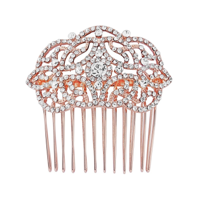 Crystal Chic Hair Comb - HC130 ROSE GOLD