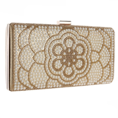 GATSBY CHIC CRYSTAL CLUTCH BAG - GOLD