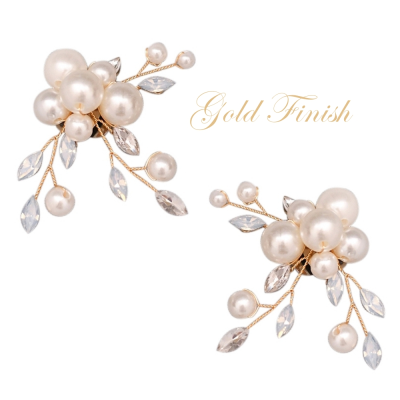 ATHENA COLLECTION - ETERNALLY PEARL SHOE CLIP - SC3 GOLD