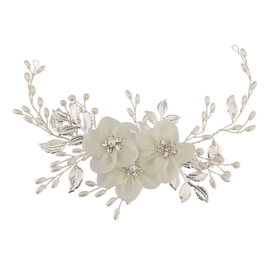 ATHENA COLLECTION - FLORAL ENCHANTMENT HEADPIECE - HP140 (silver)