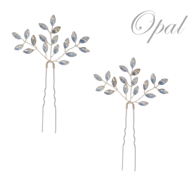 ATHENA COLLECTION - GLITZY GLAM HAIR PINS - OPAL (HP40)