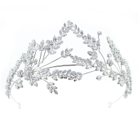 CUBIC ZIRCONIA COLLECTION - STATEMENT COUTURE HEADPIECE -