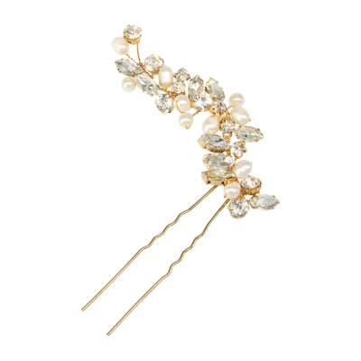 ATHENA COLLECTION - FRESHWATER PEARL PIN - PIN37 GOLD