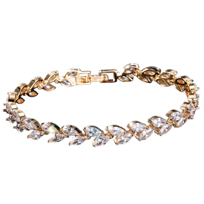 CUBIC ZIRCONIA COLLECTION - CHIC CRYSTAL BRACELET - CZBRA26 (GOLD)