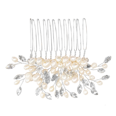 ATHENA COLLECTION - GRACE PEARL HAIR COMB - HC213
