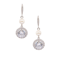 CUBIC ZIRCONIA COLLECTION - DAINTY STARLET EARRINGS  - CZER581SILVER