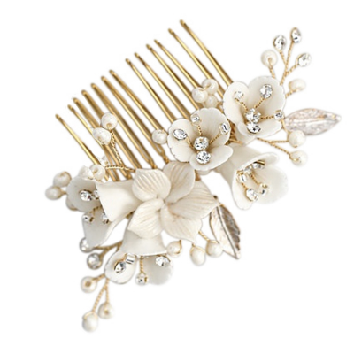 ATHENA COLLECTION - VINTAGE CHARM HAIR COMB - GOLD (HC199)