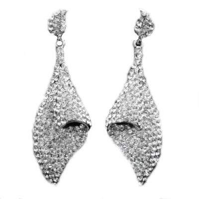 Crystal Prom Earrings - Clear (ER72)