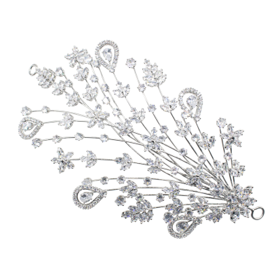 CUBIC ZIRCONIA COLLECTION - EXQUISITE CRYSTAL HEADPIECE - AHB77