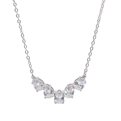 CUBIC ZIRCONIA COLLECTION - CRYSTAL GLAM NECKLACE - CZNK 117