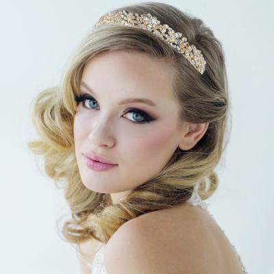 Corinne Luxe Tiara-6- 14k GOLD -  SASSB
