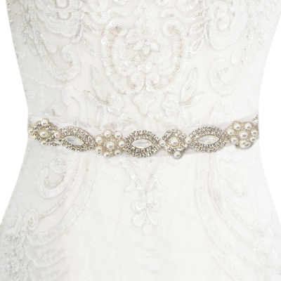 ATHENA COLLECTION - ETERNALLY PEARL BRIDAL BELT - BELT 34