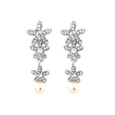 Crystal Starlet Earrings - Ivory (S-ER19)