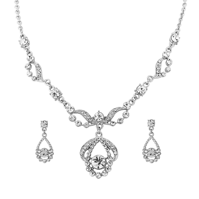 Crystal Bridal Necklace Set - Clear (Nk195)