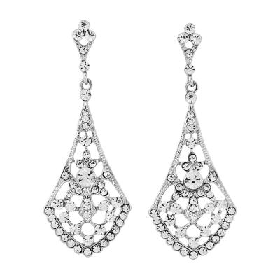 Crystal Chic Earrings - Clear (ER60)
