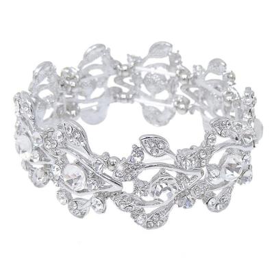 Shimmer Stretch Bracelet - Clear (VC46)