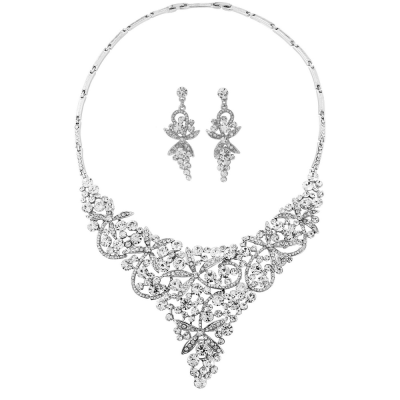 Prom Nights Necklace Set- Clear (NK198)