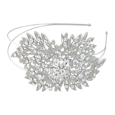 ELITE COLLECTION - Classic Extravagance Crystal Headband - Clear (HB362)
