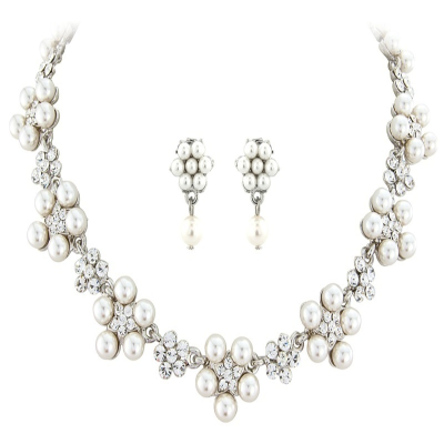 ELITE COLLECTION - Chic Pearl Necklace Set - Ivory (NK135)