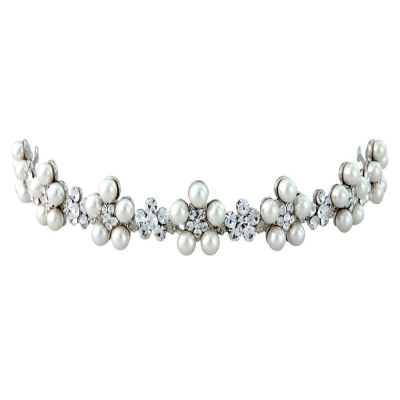 ELITE COLLECTION - Vintage Inspired Pearl Tiara - Tiara 1