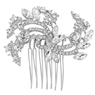 Chic Crystal Hair Comb - Clear (HC53)