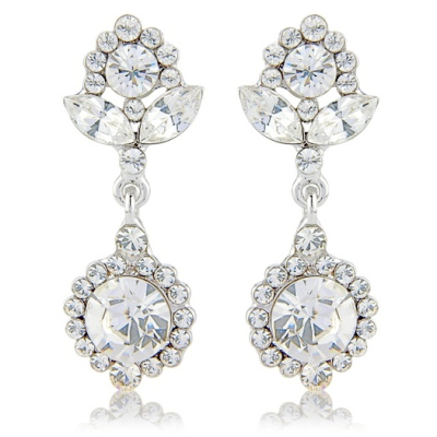 Crystal Chic Earrings - Clear (S-ER2)