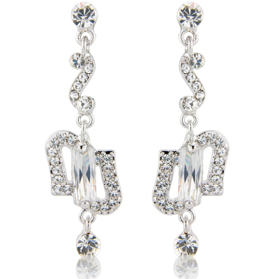 Starlet Glam Crystal Earrings - Clear (S-ER8) REDUCED TO CLEAR