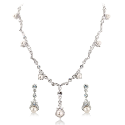 Crystal Chic Bridal Necklace Set - Clear (S-NK8)
