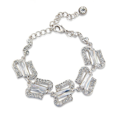 Crystal Couture Bracelet - Clear (S-BR1)