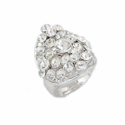 Crystal Chic Ring - Clear (S-R2)