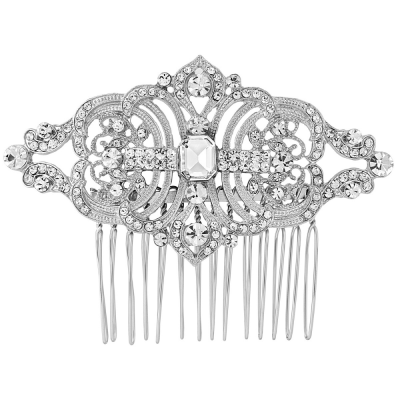 Regal Crystal Hair Comb - Clear (HC56)