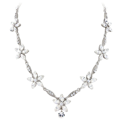 REDUCED ELITE COLLECTION - Classy Crystal Necklace Set (NK320)