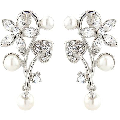 ELITE COLLECTION - Vintage Inspired Bridal Earrings - Clear (ELER3)