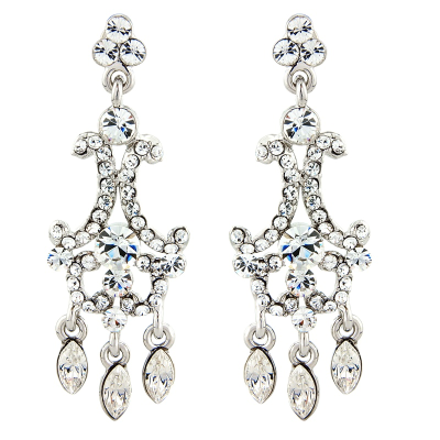 REDUCED TO CLEAR ELITE COLLECTION - Crystal Couture Earrings - Clear (ELER4)