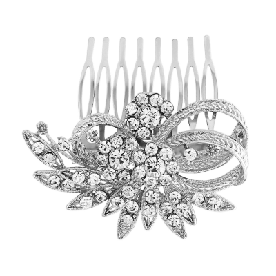 Vintage Desire Crystal Hair Comb - Clear (HC69)
