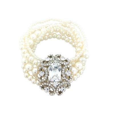 Glam Diva Pearl Bracelet - Clear (BR59)