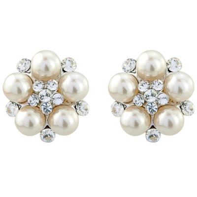 Classic Pearl Earrings - Ivory (S-ER16)
