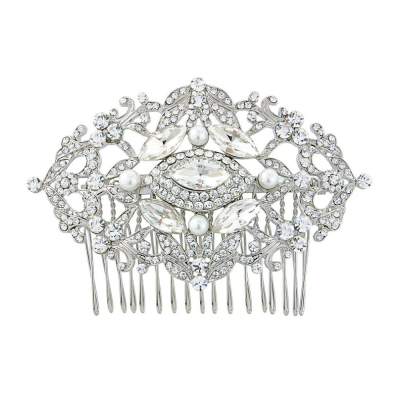 Crystal Elegance Hair comb - Clear (HC76)