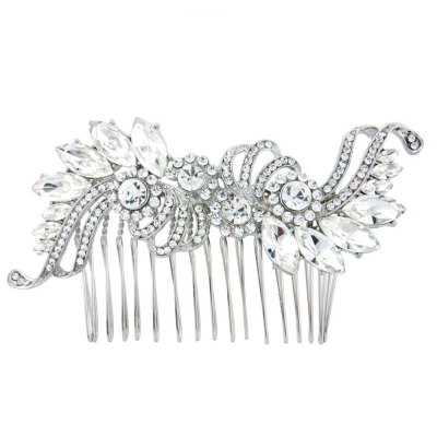 Vintage Chic Crystal Bridal Hair Comb - Clear (HC79)
