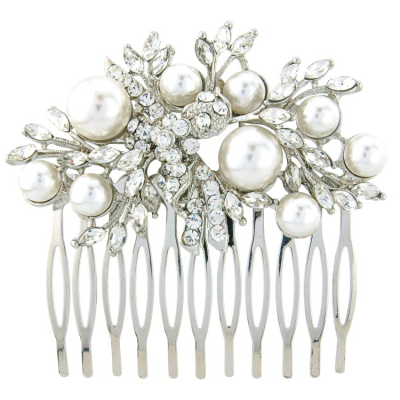 ELITE COLLECTION - Pearl Extravagance Hair Comb - Ivory (HC80)