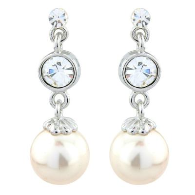 Vintage Chic Ivory Pearl Earrings - (S-ER22)