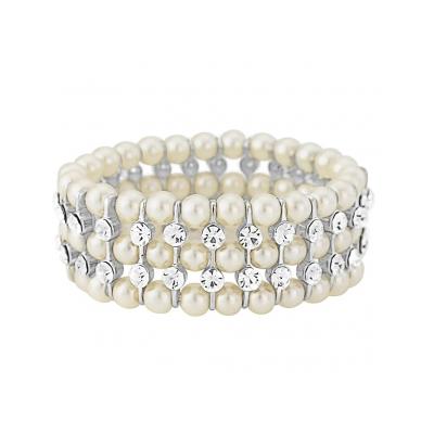 Chic Pearl stretch Bracelet - Ivory (BR65)
