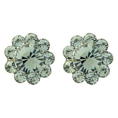Shimmer Crystal Stud Earrings - Black Diamond (S-ER25)