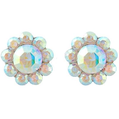 Shimmer Crystal Stud Earrings - AB (S-ER25)