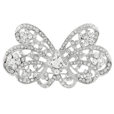 Crystal Belle Bridal Brooch - Clear (Brooch 108)
