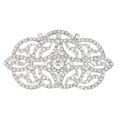 Vintage Chic Brooch - Clear (Brooch 109)