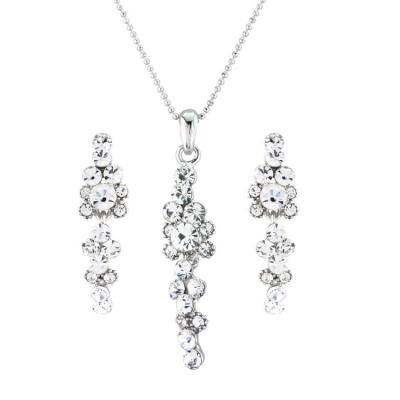 Crystal Elegance Necklace Set - Clear (S-NK16)