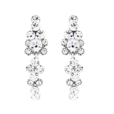 Crystal Elegance Earrings - Clear (S-ER29)