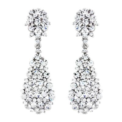 Bejewelled Starlet Earrings - Clear (S-ER30)
